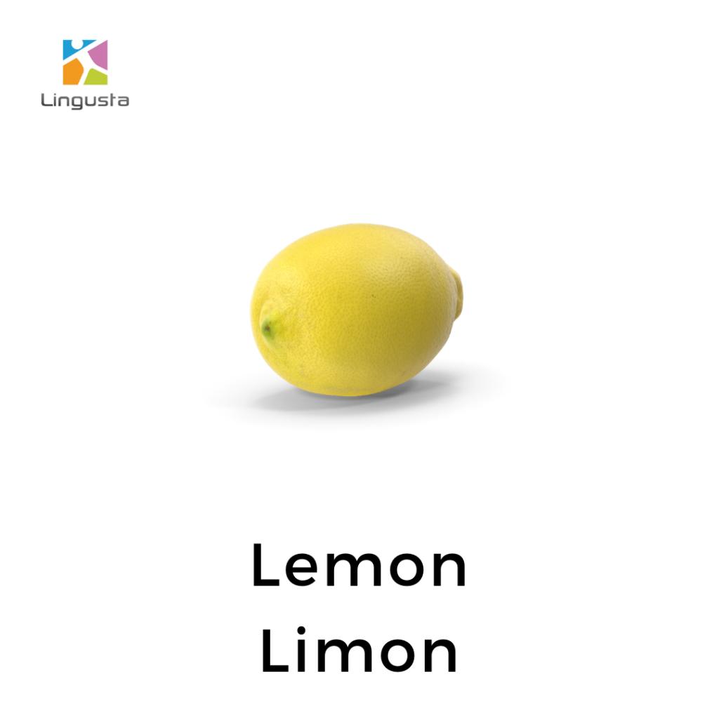 ingilizce limon lemon