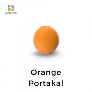 ingilizce portakal orange