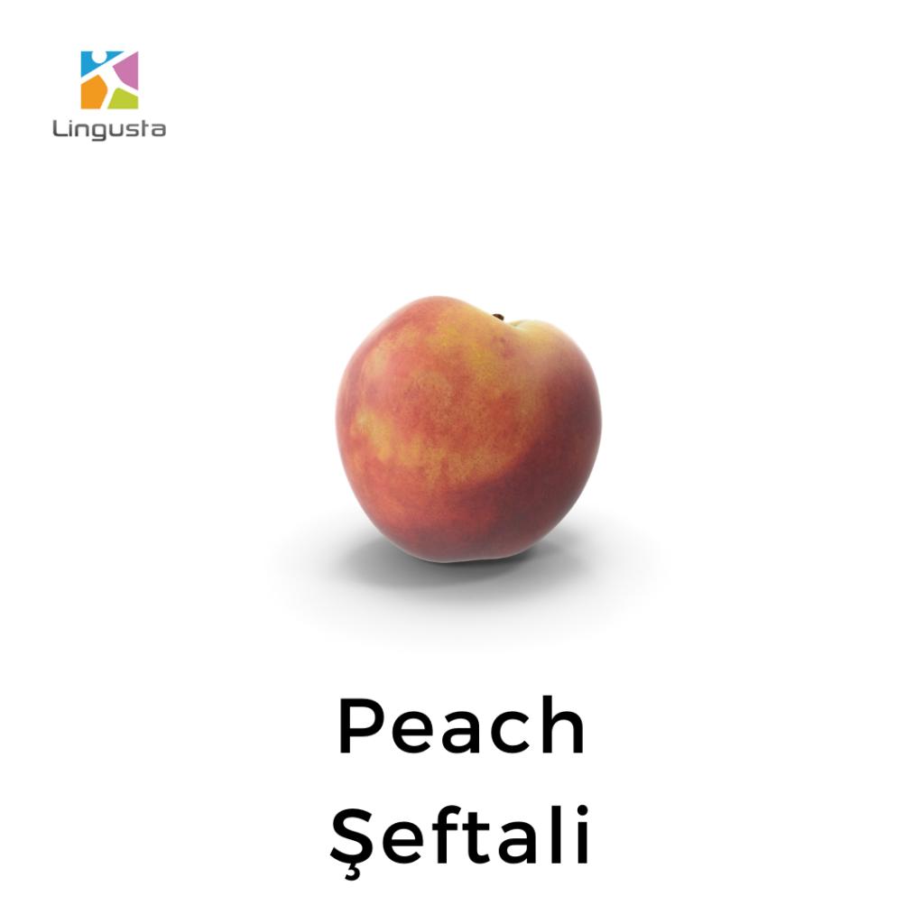 ingilizce şeftali peach