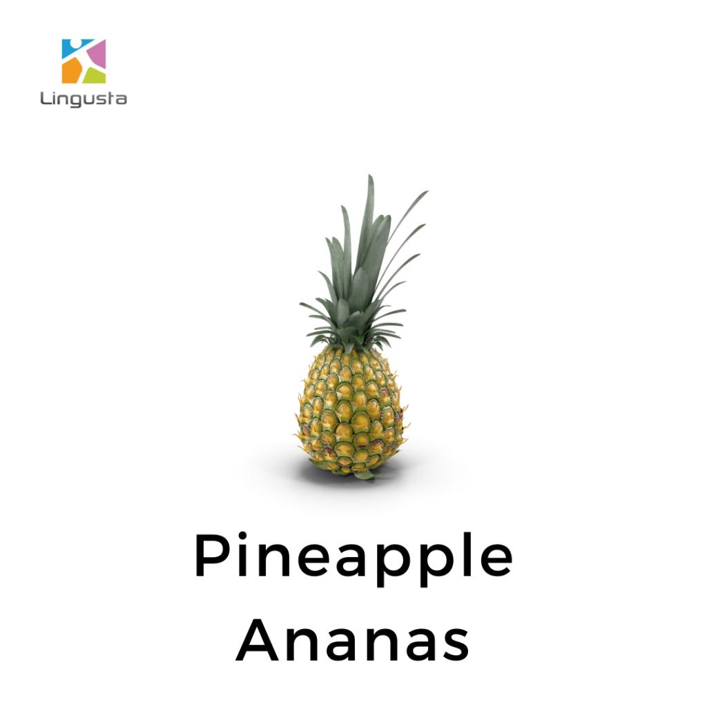 ingilizce ananas pineapple