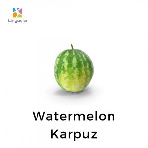ingilizce karpuz watermelon